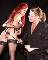 Redhead Shannon Kelly likes to take a few slaps on the ass while shes getting drilled from behind