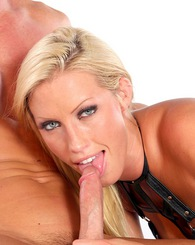 Blond Cassie Young sucking and riding cock