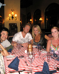 Kelly and Ryan go to dinner and enjoy more mexican cuisine Sienna's pussy on a platter.