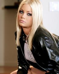 Riley Steele Black Top Black Jeans