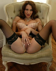 Kinzie Kenner sucks cock and rides it reverse cowgirl while wearing sexy lingerie.