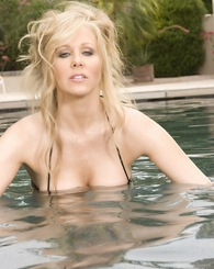Beautiful blonde hottie, Julia Ann's nipples are hard as rocks or maybe she was just so turned on by you watching her model her amazing big tits