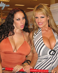 Kelly Madison and Gianna Michaels get their huge natural titties fucked and their pussies pounded.