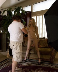 Go behind the scenes with Lexi Belle and see just what kind of hard work takes place on the set of Aziani.com!