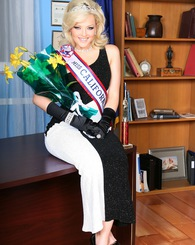 Alexis Texas as Ms California goes from evening gown to just a sash