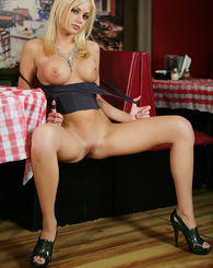 Riley Steele Black Top and Jeans