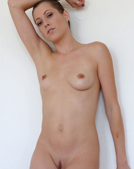 Holly Hollywood shows off her sexy natural body while sucking cock and getting fucked in three different positions.